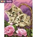 KSG - Рисуване по номера  - Котенца в кошница