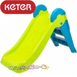 Keter Boogie Slide детска пързалка зелено/синьо