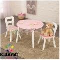 2015 KidKraft - Детска дървена маса със столове Pink 26165
