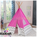 KidKraft Play Teepee Детска палатка за игра Pink with Grey 227