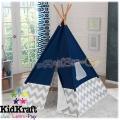 KidKraft Play Teepee Детска палатка за игра Navy with Grey 228