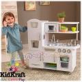 KidKraft Детска дървена кухня Винтидж Bon Appétit в бяло 53402