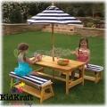 2015 KidKraft - Детска дървена маса с пейки 106