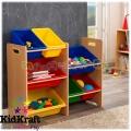 KidKraft Рафт с кутии за играчки Natural
