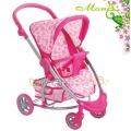 Moni Детска количка за кукли Honey Bee 9666