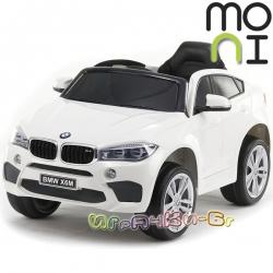 Moni Акумулаторен джип BMW X6M White JJ2199