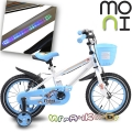 """Moni Детски велосипед със светеща рамка 14"""" Blue 1490"""