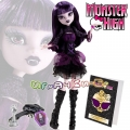 Monster High® Frights Camera Action!™ Елизабат с дневник и четка BLX07/BLX10