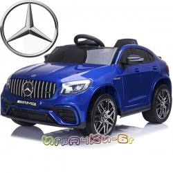Mercedes Акумулаторен джип GLC 63 S AMG QLS-5688 син металик