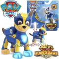 Paw Patrol Mighty Pups Super Paws Светеща фигурка кученце Чейс 6046558