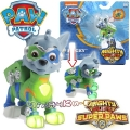 Paw Patrol Mighty Pups Super Paws Светеща фигурка кученце Роки 6046558