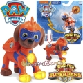Paw Patrol Mighty Pups Super Paws Светеща фигурка кученце Зума 6046558