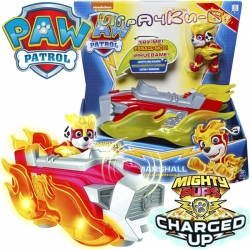 Paw Patrol Mighty Pups Charged Up Светещо превозно средство с кученце Маршал 60