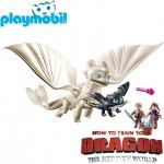 2019 Playmobil Dragons™ Светъл бяс с деца 70038