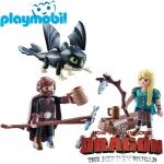 2019 Playmobil Dragons™ Хълцук,Астрид и Дракон 70040