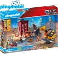 Playmobil City Action Мини екскаватор със строителна площадка 70443