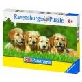Ravensburger Супер Пъзел 200ч Златни кученца 12680