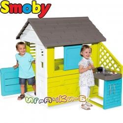Smoby Градинска къща за игра Natur' Playhouse с кухня 810703