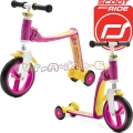 Scoot and Ride Highwaybaby Тротинетка/колело за баланс 2 в 1 Pink/Yellow
