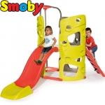 Smoby Градински център с катерушка, пързалка и пилон за спускане 840201