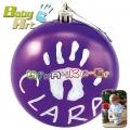 2013 Baby Art Christmas Ball Коледна топка за отпечатък в лилаво