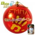 2013 Baby Art Christmas Ball Коледна топка за отпечатък в червено
