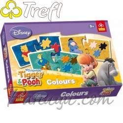 Winnie The Pooh Игра Свържи цветовете с Мечо Пух Trefl
