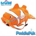Trunki - Детска раничка PaddlePak Клоун в оранжево