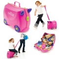 Trunki Детски куфар 3 в 1 Ride-on DELUXE Pink