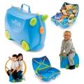 Trunki Детски куфар 3 в 1 Ride-on DELUXE Blue