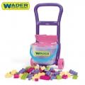 Wader Toys 10973 Количка за бутане с конструктор