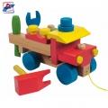 Woody Дървен камион за сглабяне 90101
