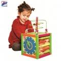 Woody Дидактически цветен куб 90837