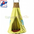 Woody Голяма детска люлка - Къщичка 91862