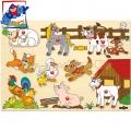 Woody Дървен пъзел Ферма 91905